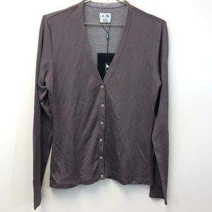 Adidas NWT Brown Cardigan
